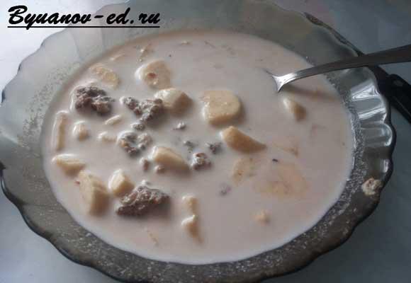 суп из миндаля