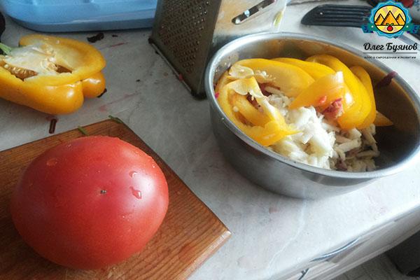 салат с перцами