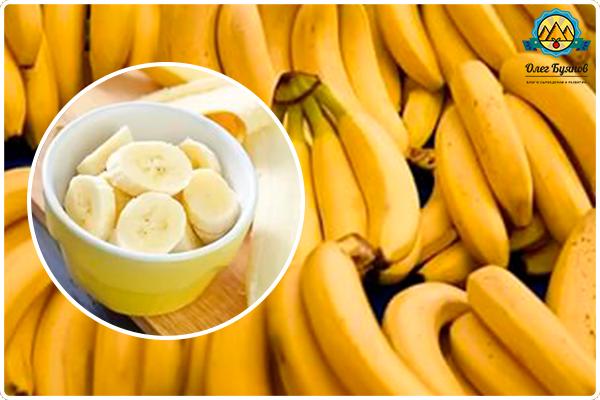 жёлтая мякоть банана