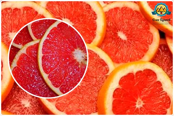дольки оранжевого фрукта