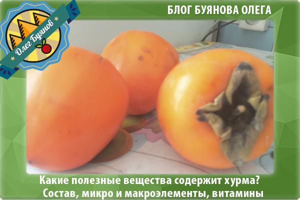 оранжевый фрукт хурма