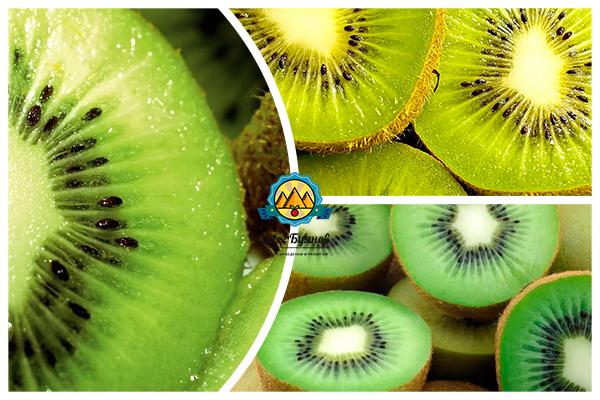 полезный фрукт киви в разрезе