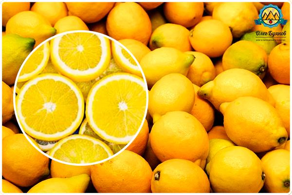 жёлтые цитрусы-лимоны