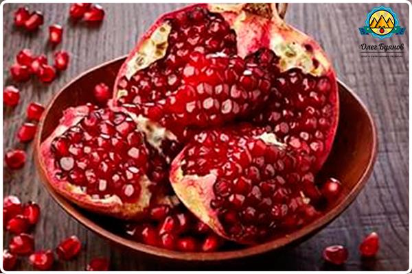 кусочки гранатового плода