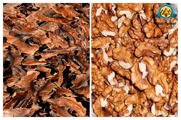 орешки и перегородки
