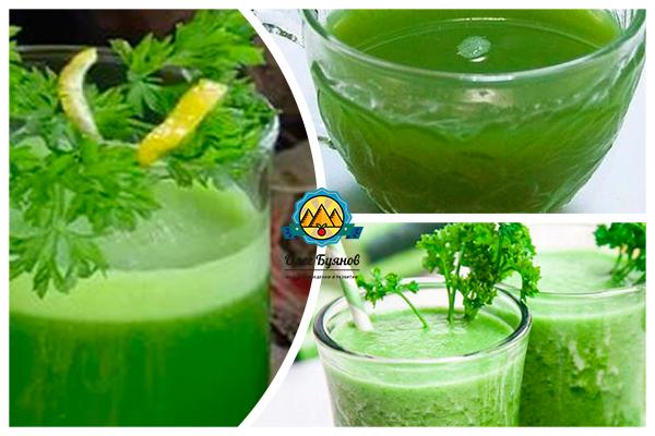 настой и сок из зелёной петрушки