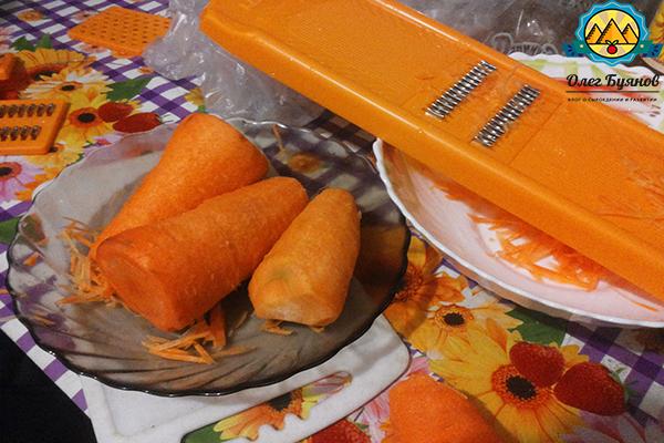 очищеннаая морковка