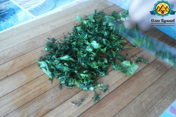 резаная зелень