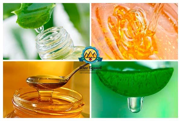 смесь мёда и сока