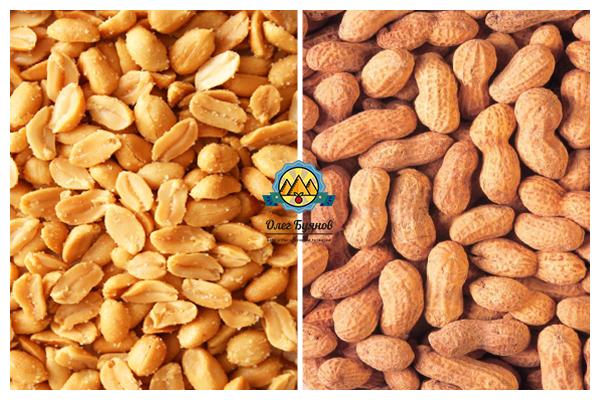 арахисовые орехи в скорлупе