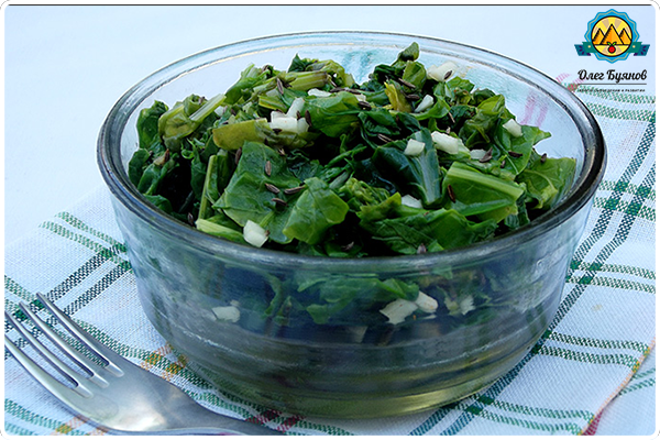 вкусный салат с зеленью