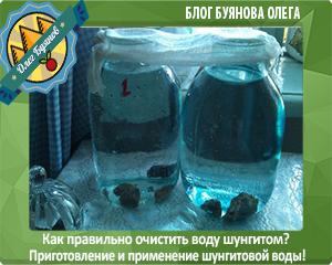 очищеная шунгитом вода