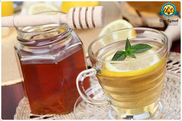 вода мёд и лимон