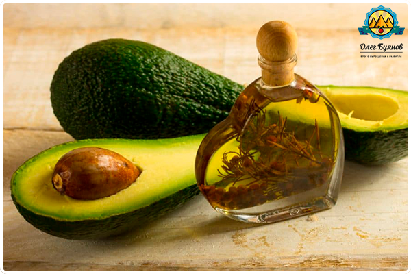 авокадо и масло