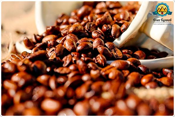 коричневое кофе