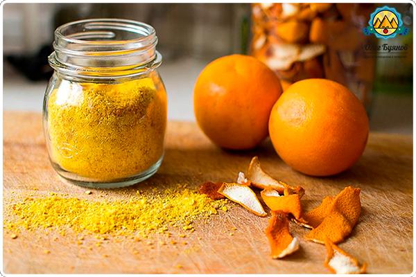 корки и плоды апельсина