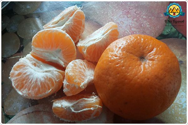 дольки мандарин