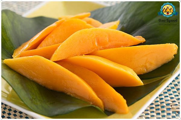 кусочки манго