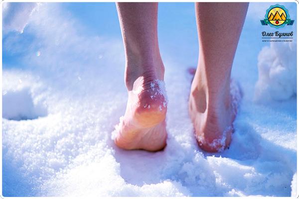 хождение по снегу